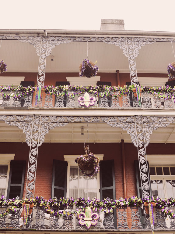 3 days in New Orleans Mardi Gras decorations