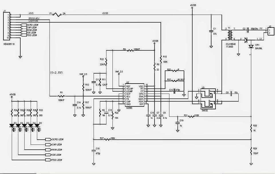 Block Diagram Lcd Backlight Inverter Schematic Tv Board Rh910kajmitjde: Lcd Backlight Inverter Schematic At Gmaili.net