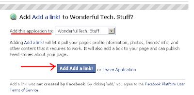 Add Add a link! Application to Wonderful Tech Stuff