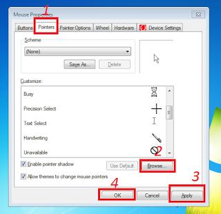 Cara mengganti cursor dengan mudah