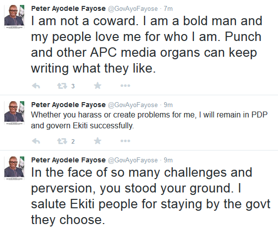 Fayose Congratulates Fani Kayode Over His Victory At A Lagos Court