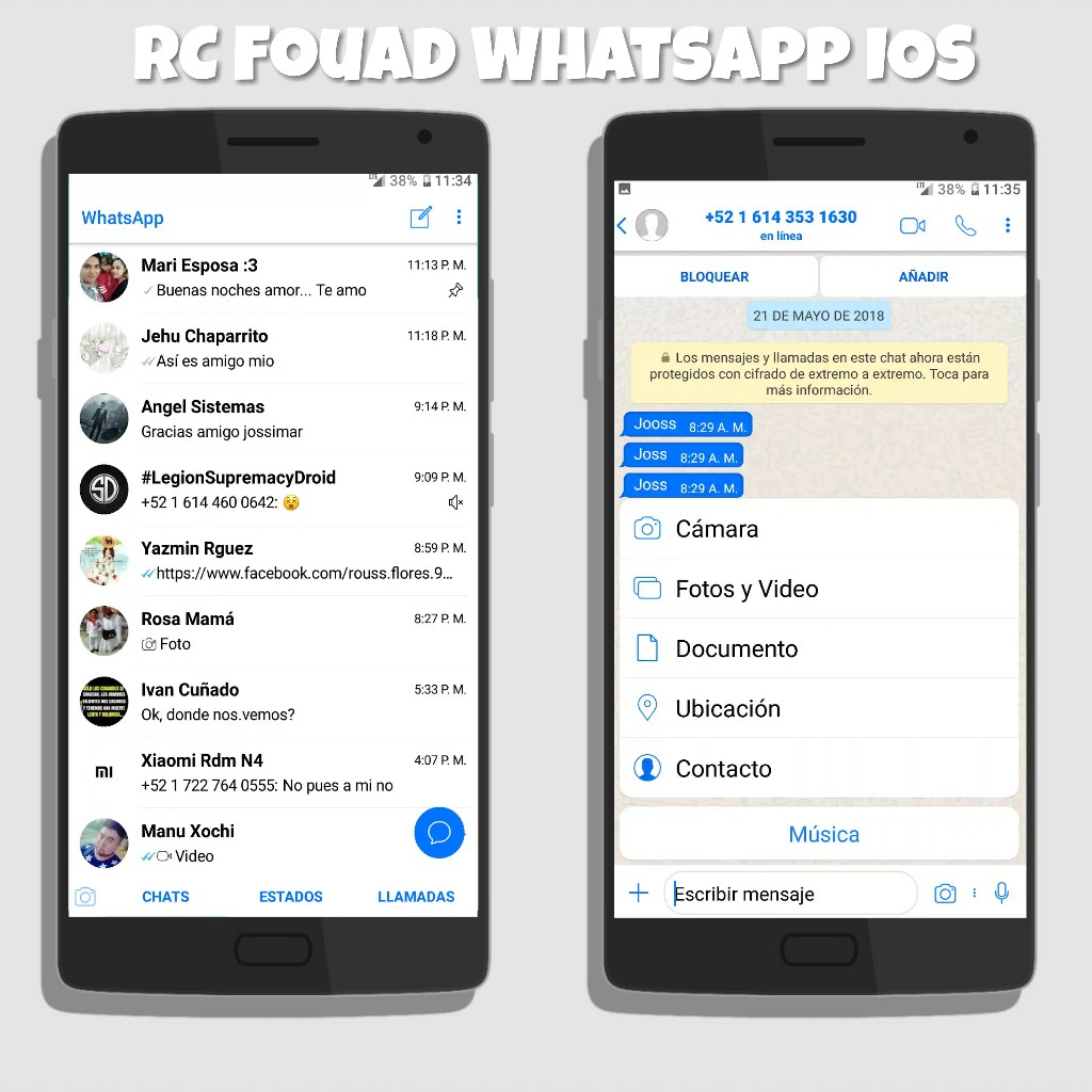 RC Fouad WhatsApp v7 50 iOS Edition Latest Version Download Now