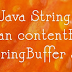 Belajar Java String Method boolean contentEquals(StringBuffer sb)