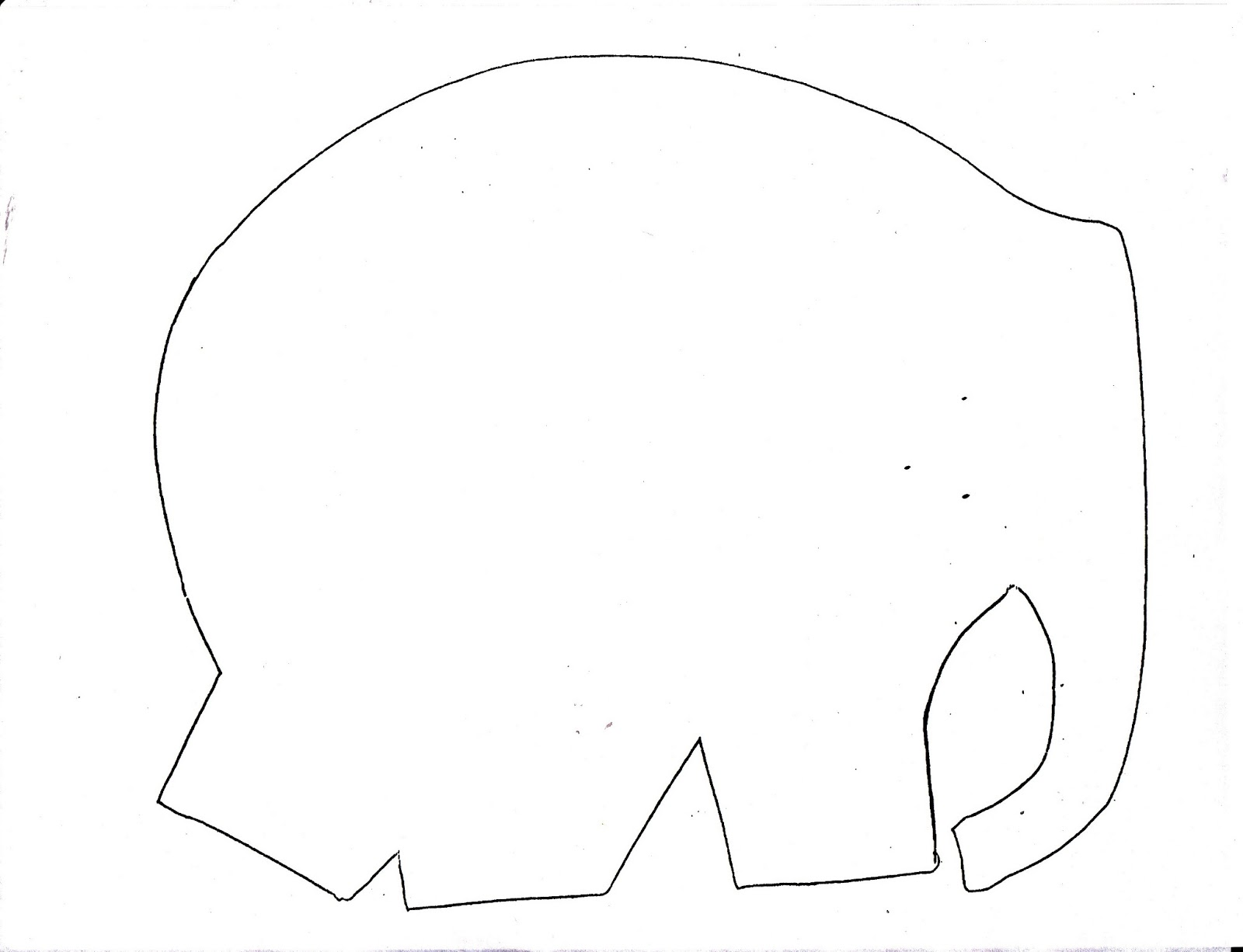 Metamora community preschool elmer the elephant for Elephant template for preschool