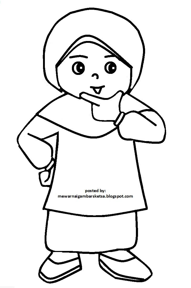 Gambar Kartun Anak Muslim Berjilbab Medsos Kini