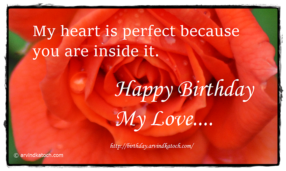 Birthday Card, Rose Card, Card for lover,