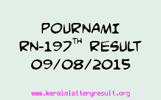 POURNAMI RN 197 Lottery Result 9-8-2015