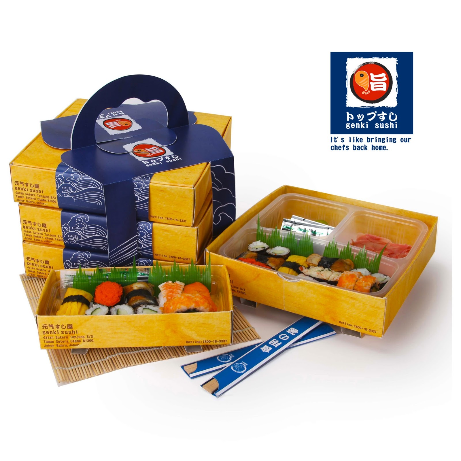 Genki Sushi Take Away Student Project On Packaging Of The World Creative Package Design Gallery