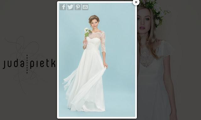 Romantyczna, zwiewna suknia ślubna Juda Pietkiewicz.