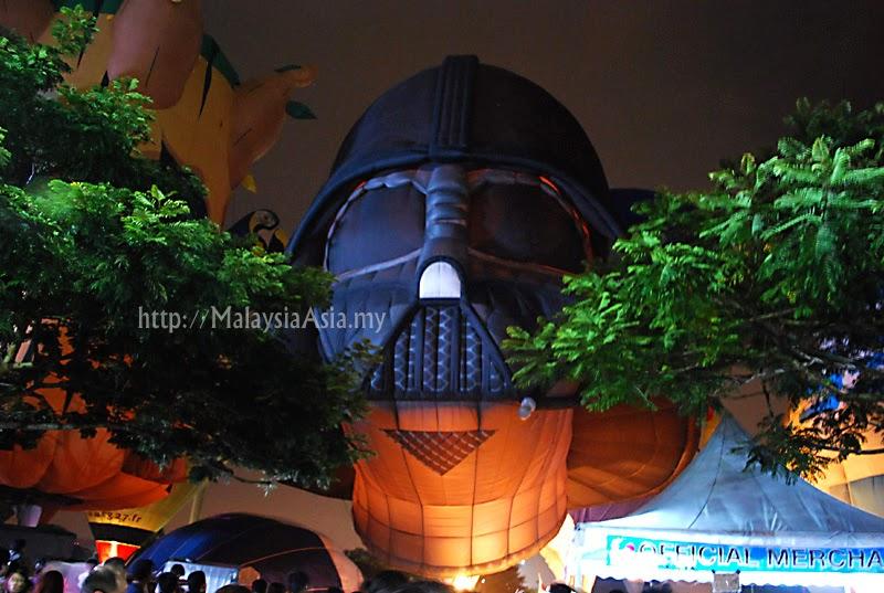 Darth Vader Hot Air Balloon at Putrajaya, Malaysia