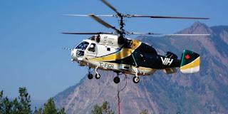 Helicóptero ruso se suma a la flota de aeronaves para combate de incendios forestales