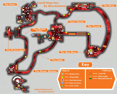 detailed map mapa detalhado black ops 2 ii blops zombie zumbi TranZit