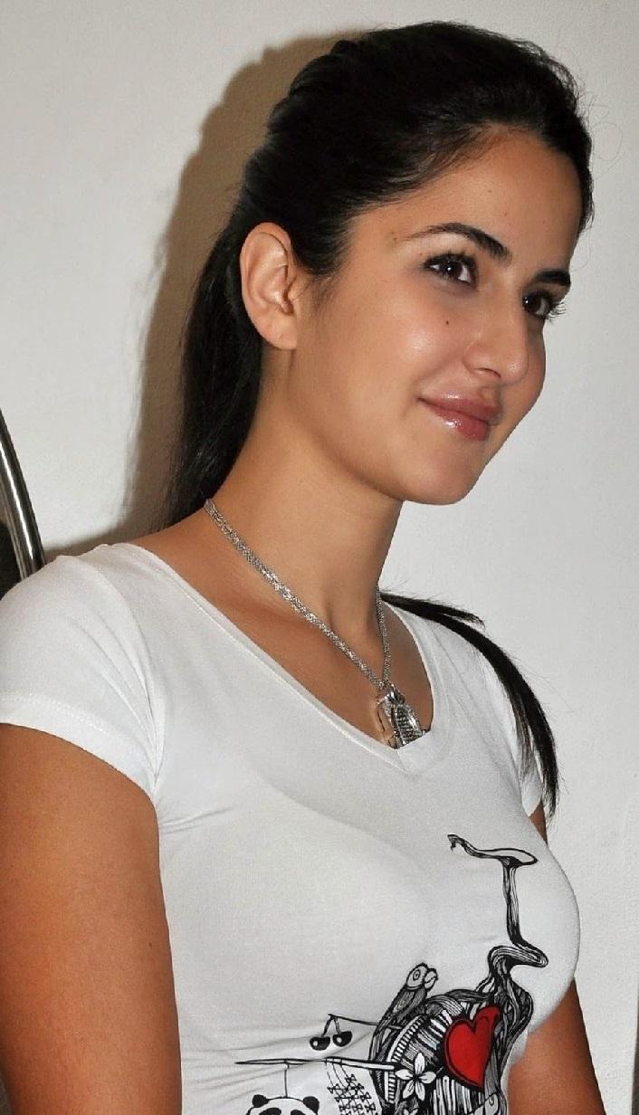 Glamorous Katrina Kaif Hot Photos In White T Shirt Blue Jeans