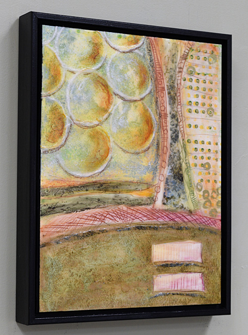 sand, metal, clay and acrylic abstract painting
