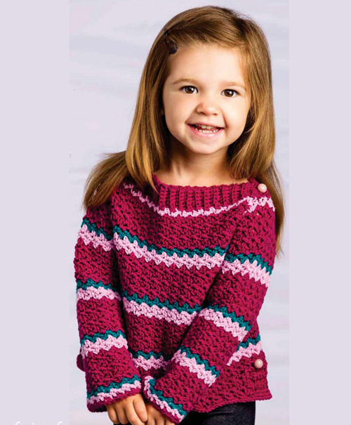 Little Girl Crochet Sweater - Free Pattern