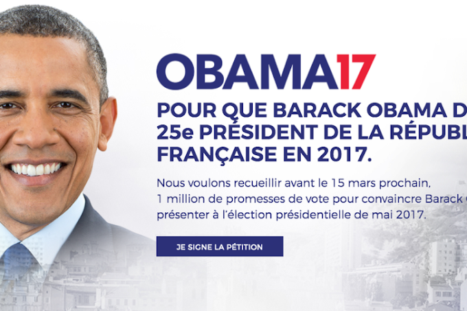 Petition calls on Obama to run for president in France