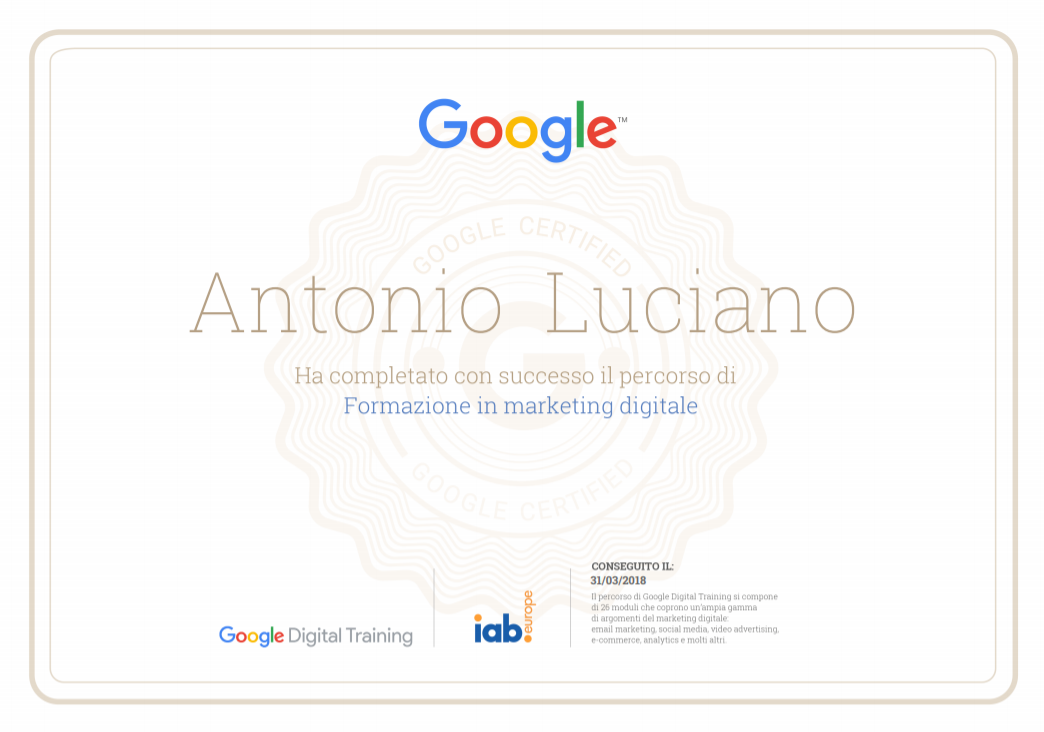 google digital training formazione marketing digitale