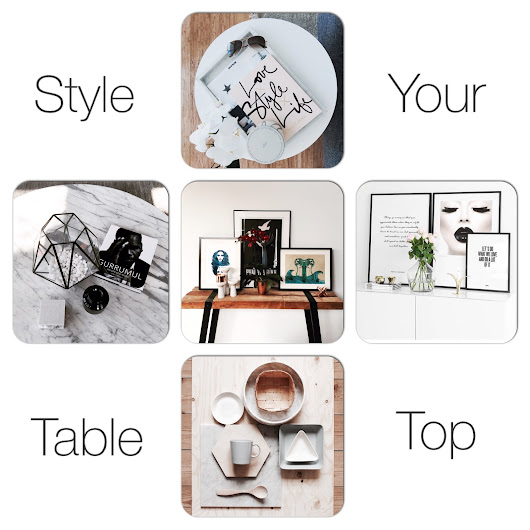 Tips for Styling an Artful Table Top.
