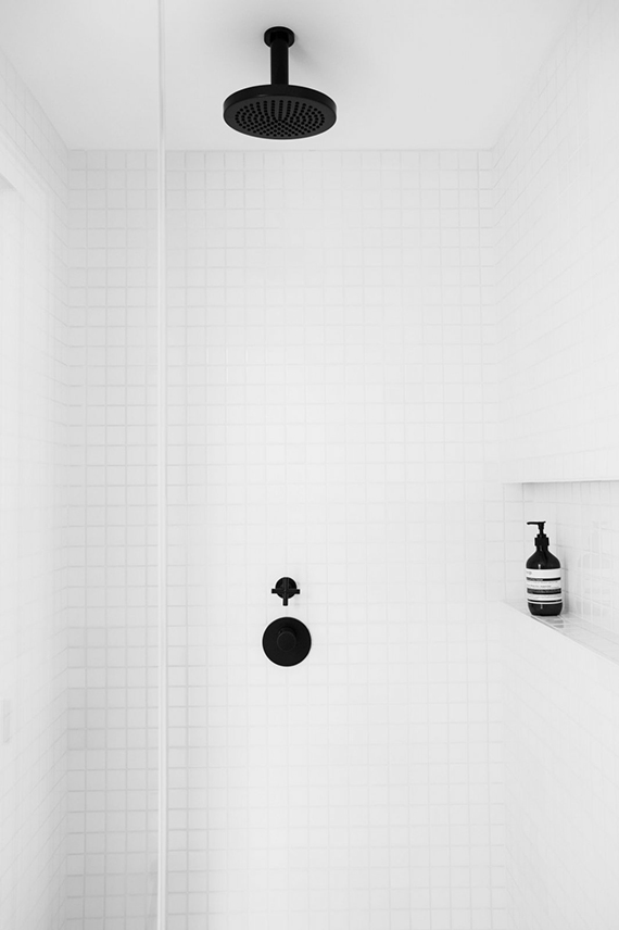 Black shower fixtures | Amee Allsop