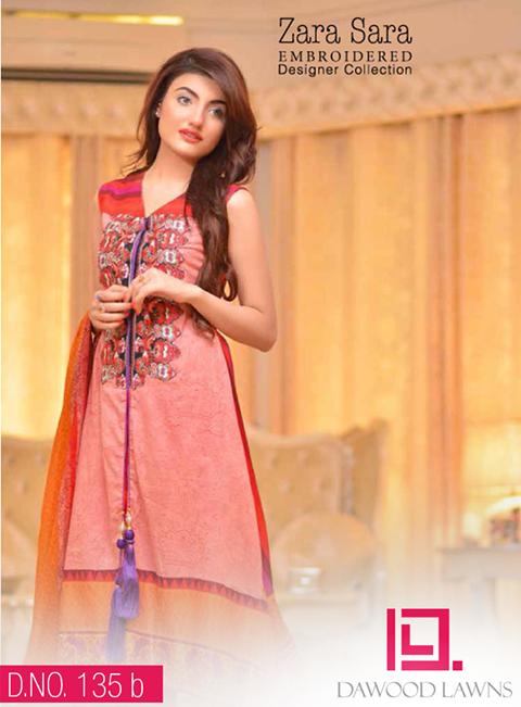 c2b22a1f27 Zara Sara Designer Embroidered Eid Collection 2014 By Dawood Textile ...