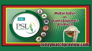 PSL 2019 Quetta vs Multan Today Match Prediction Dream11 Squad