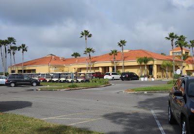 The clubhouse building a Cypress Lakes resort 55+ community in Lakeland, Florida.