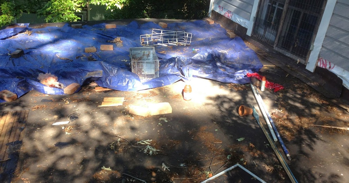 Diy Drummer A New Roof An Old Deck A Light