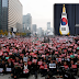 100,000+ Rakyat Berhimpun Desak Presiden Korea Selatan Letak Jawatan