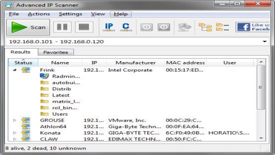 Advanced IP Scanner 2.4.3021 Screenshot 2