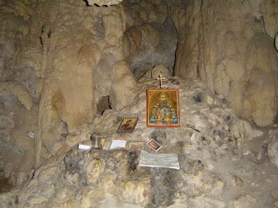 Σπήλαιο ασκήσεως Αγ. Γρηγορίου Παλαμά (Σκήτη Βεροίας, φωτο Αρχιμ. Δανιήλ)