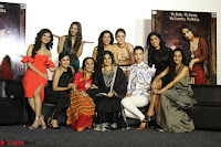 Vidya Balan with Ila Arun Gauhar Khan and other girls and star cast at Trailer launch of move Begum Jaan 008.JPG