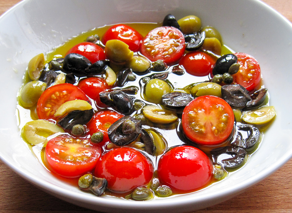 Tomato Olive and Caper Dressing