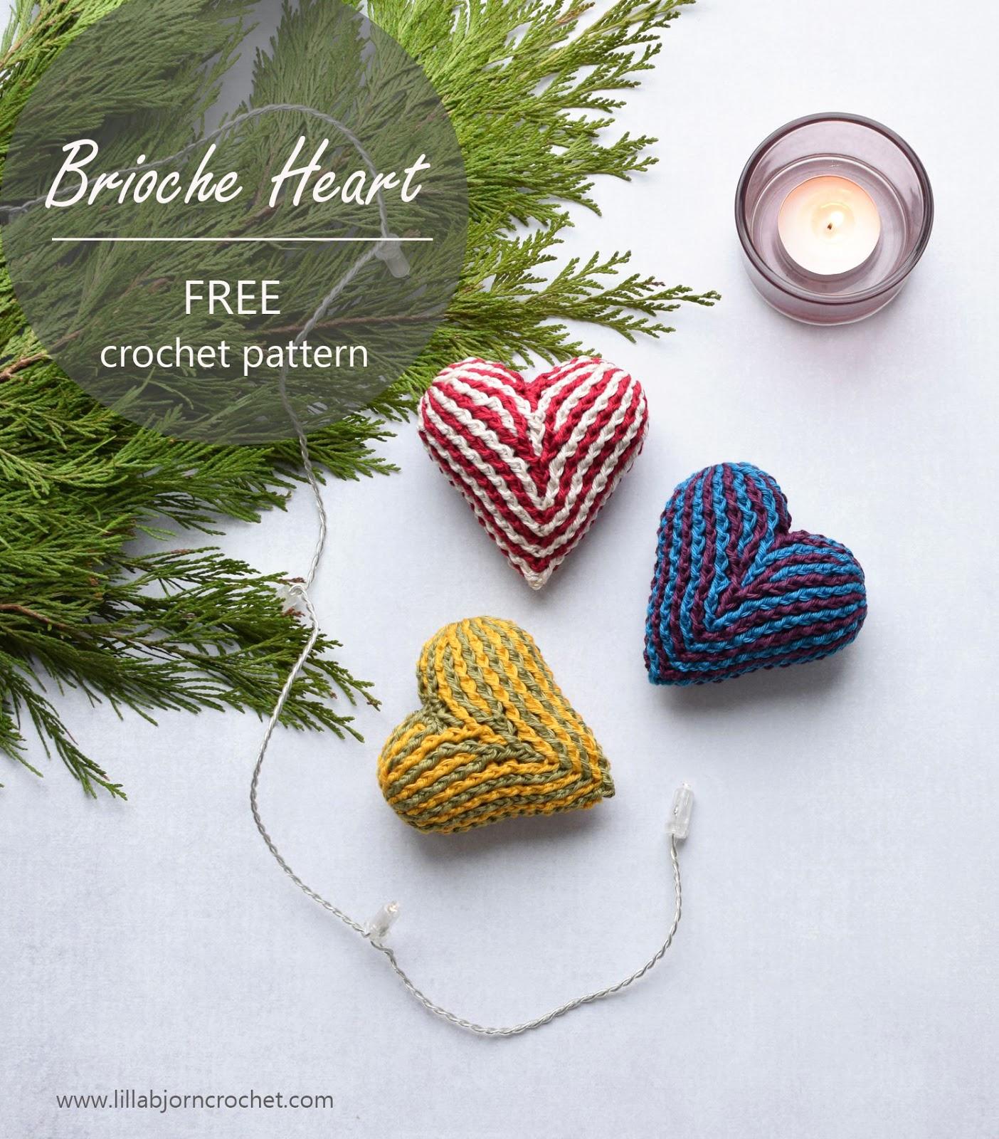 Brioche Hart Haakpatroon Nederlands Lillabjörns Crochet World