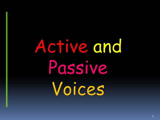 Kalimat pasif dan kalimat aktif