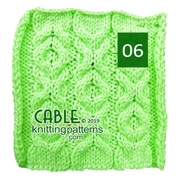 Cable Knitting Pattern 06