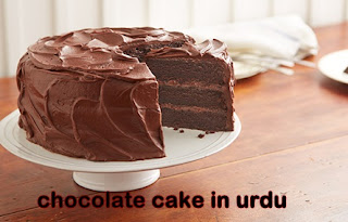 chocolate cake in urdu