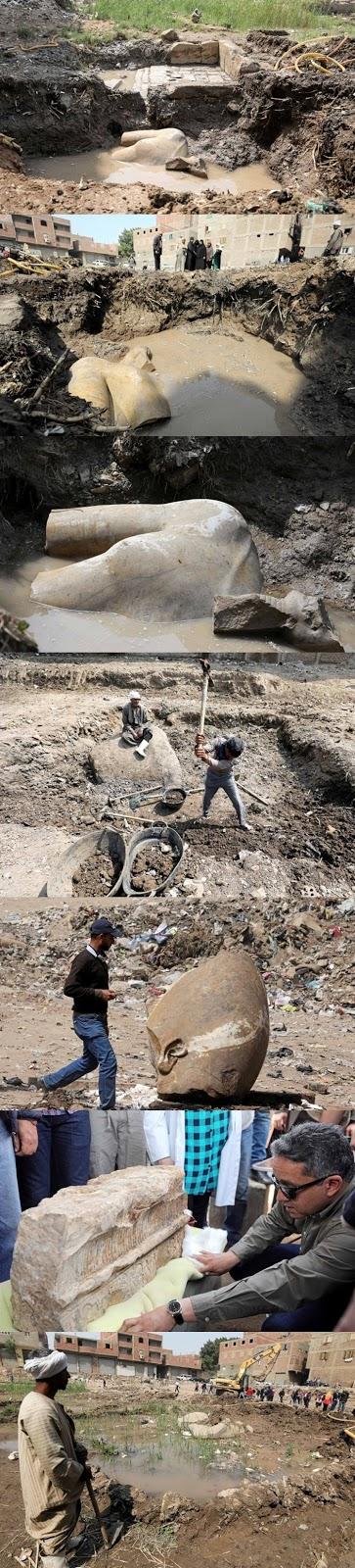 Patung-patung itu ditemukan para arkeolog yang tergabung dalam misi arkeologi Jerman dan Mesir