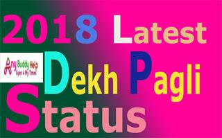 2018 latest dekh pagli status anybuddyhelp
