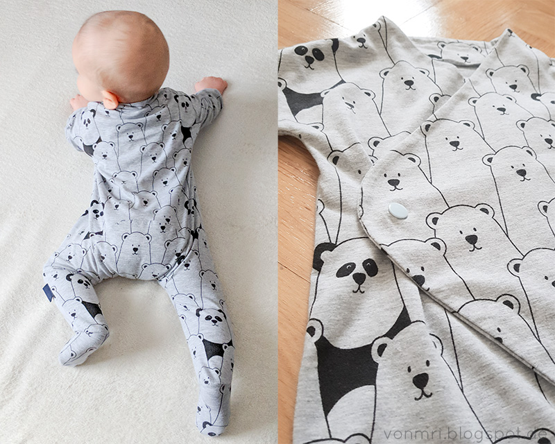 schnittmuster review purlbee 39 s fleece baby jumpsuit in jersey von mri. Black Bedroom Furniture Sets. Home Design Ideas