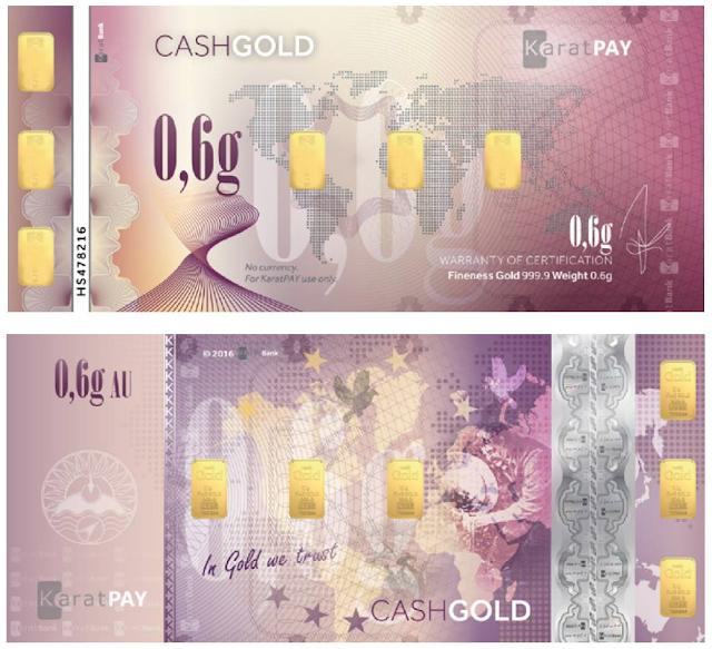 CashGold Karatbars de 0,6 gramos