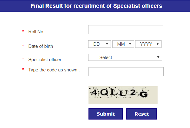 Nainital Bank Specialist Officer Result