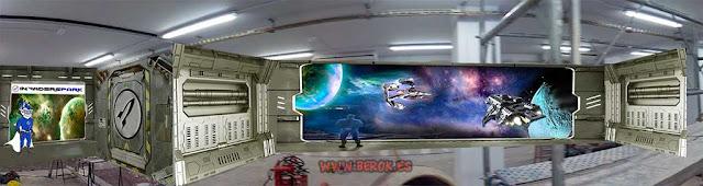 diseño de interior de nave espacial