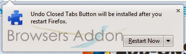 Undo Closed Tabs Button restart permission