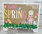 Happy Spring Wooden Easel