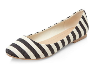 New Look Black Stripe Ballet Pumps