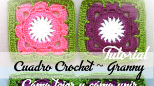Aprende a Tejer y a Unir Cuadros Crochet / Tutorial en español