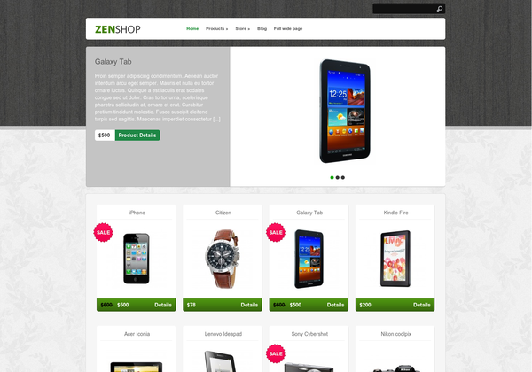 online shop wordpress theme 2012 30 Ücretli Ücretsiz WordPress Teması