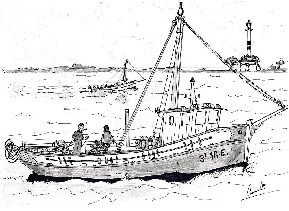 Dibujos Para Colorear Y Pintar Barcos De Pesca En Saint Fondos De