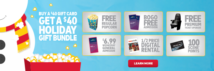 the cineplex holiday gift bundle is back spend 40 or more on a gift card between november 2 2016 and january 1 2017 and get a bonus holiday gift bundle - Holiday Gift Card Promotions 2017