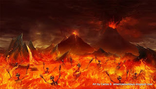 The Mega Burning City Of Hell Fire